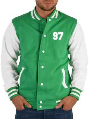 College Jacke Herren: Jacke 97 Farbe: Hell-Grün