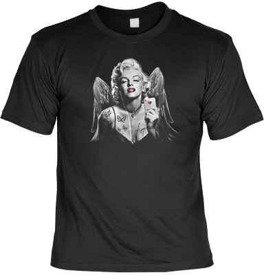 T-Shirt: Marilyn Monroe mit Flügel