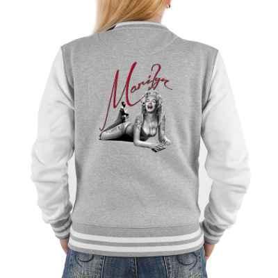 College Jacke Damen: Marilyn Monroe liegend