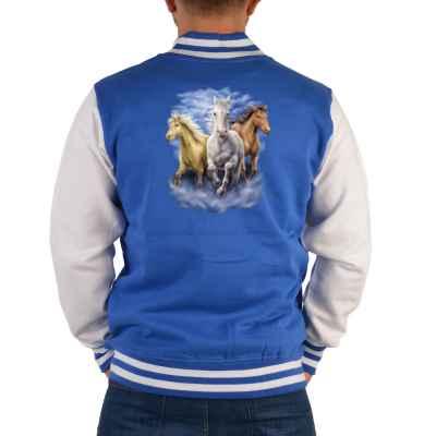 College Jacke Herren: drei Pferde