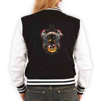 College Jacke Damen: Rock n Roll Guitar