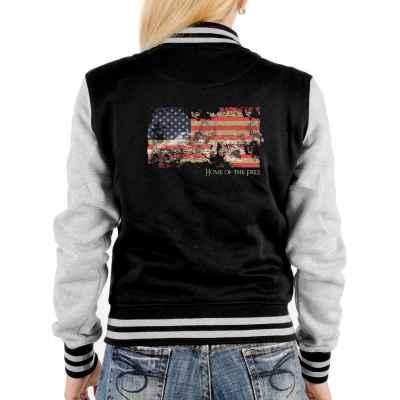 College Jacke Damen: American Flag - Home of the Free