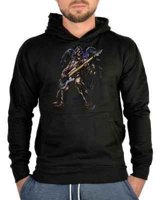 Kapuzensweater: Toter Rocker mit E-Gitarre