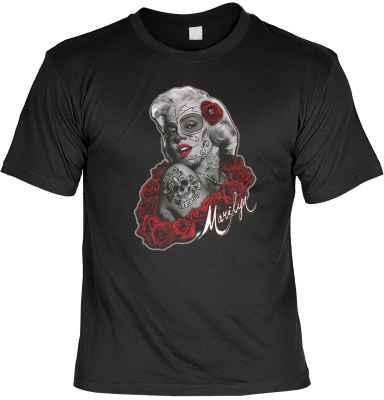 T-Shirt: Marilyn Monroe as la catrina