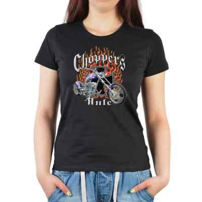 Girlie: Choppers Rule - Bike and flamed Cross