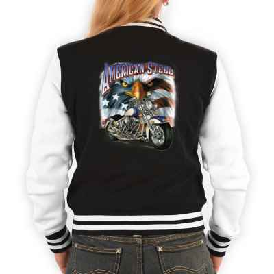 College Jacke Damen: Chopper - American Steel