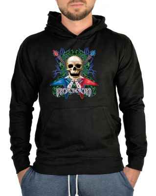 Kapuzensweater: Totenkopf mit E-Gitarren - Rock on
