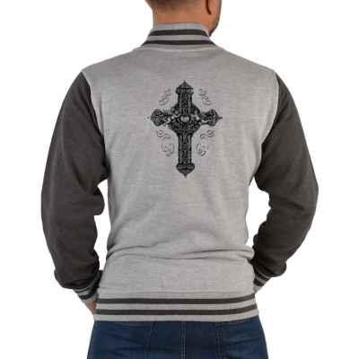 College Jacke Herren: Keltisches Kreuz