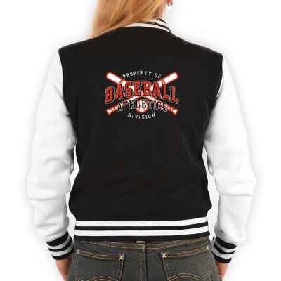 College Jacke Damen: Proberty of Baseball Athletics Division