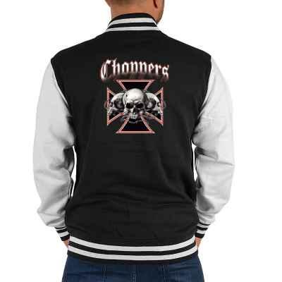 College Jacke Herren: Choppers - Cross with Skulls