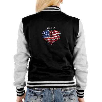 College Jacke Damen: USA Razzle